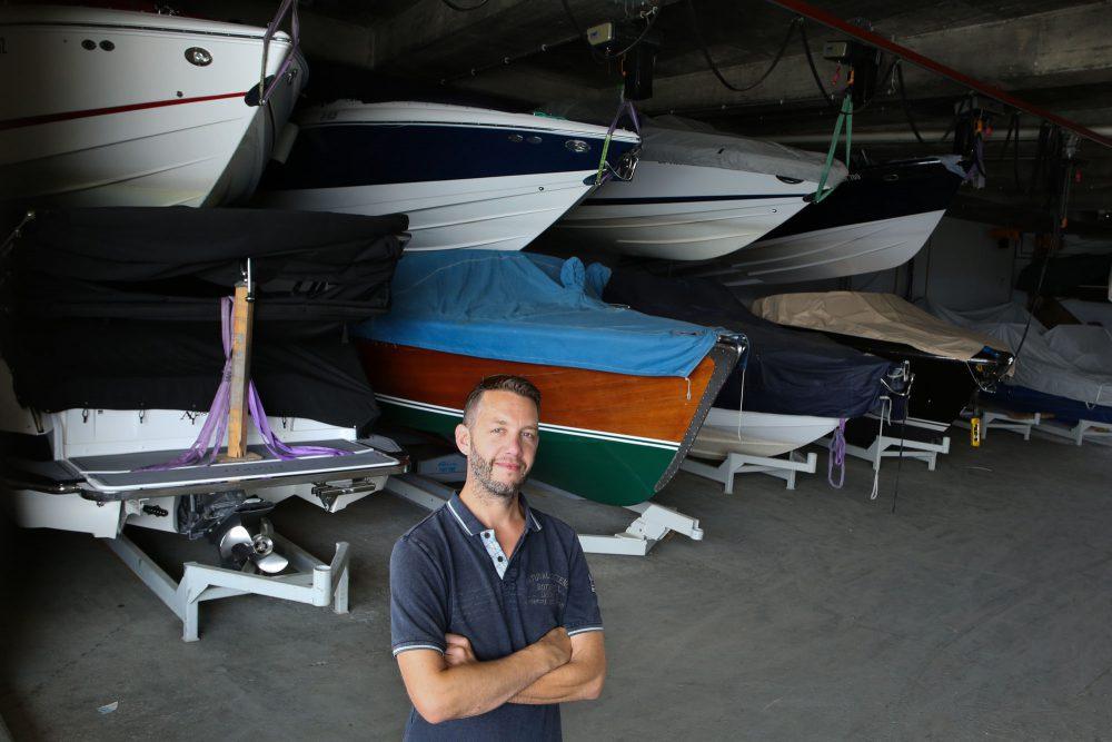 Mathias Ganz in seiner Werft