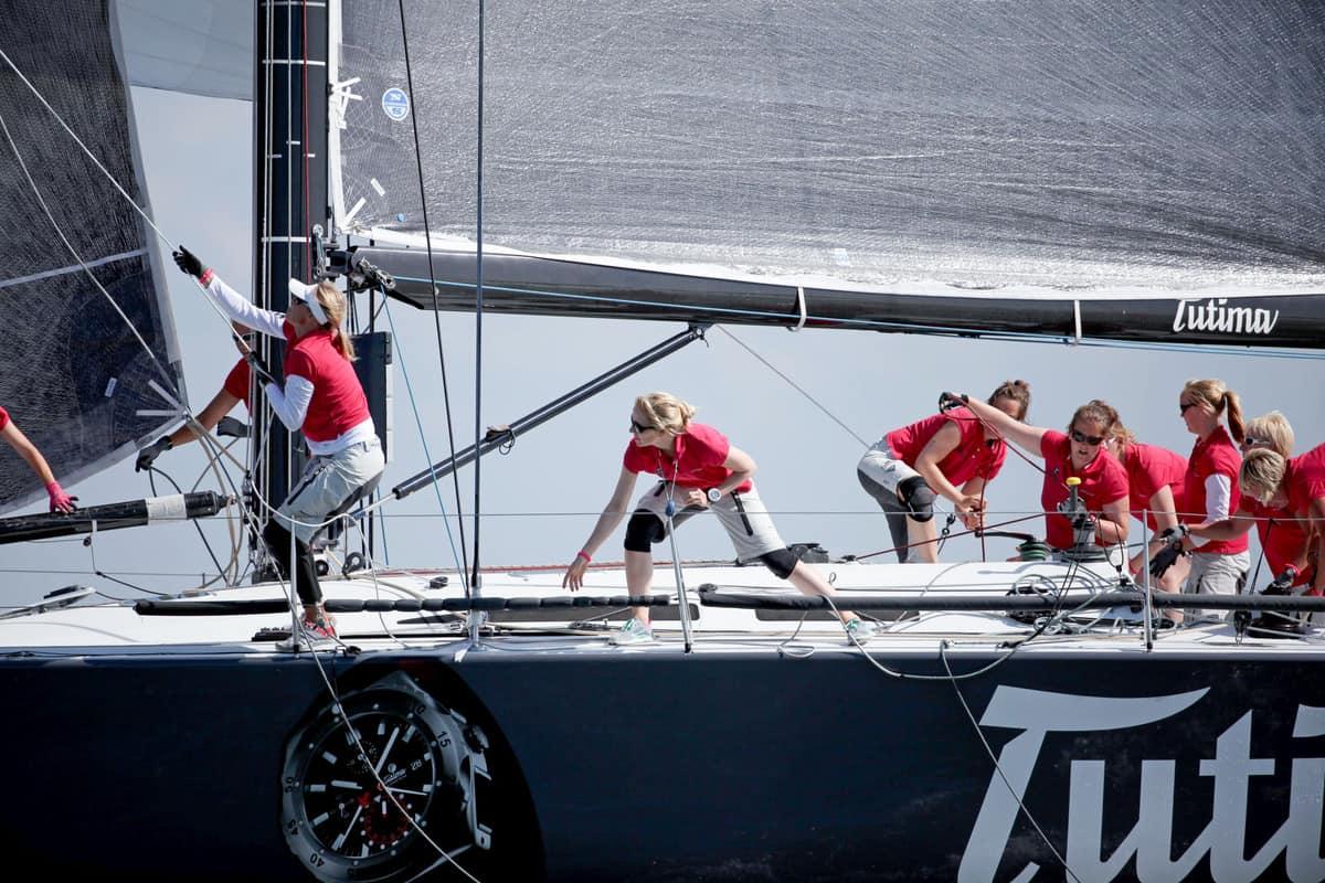 Tutima-Crew bei Regatta