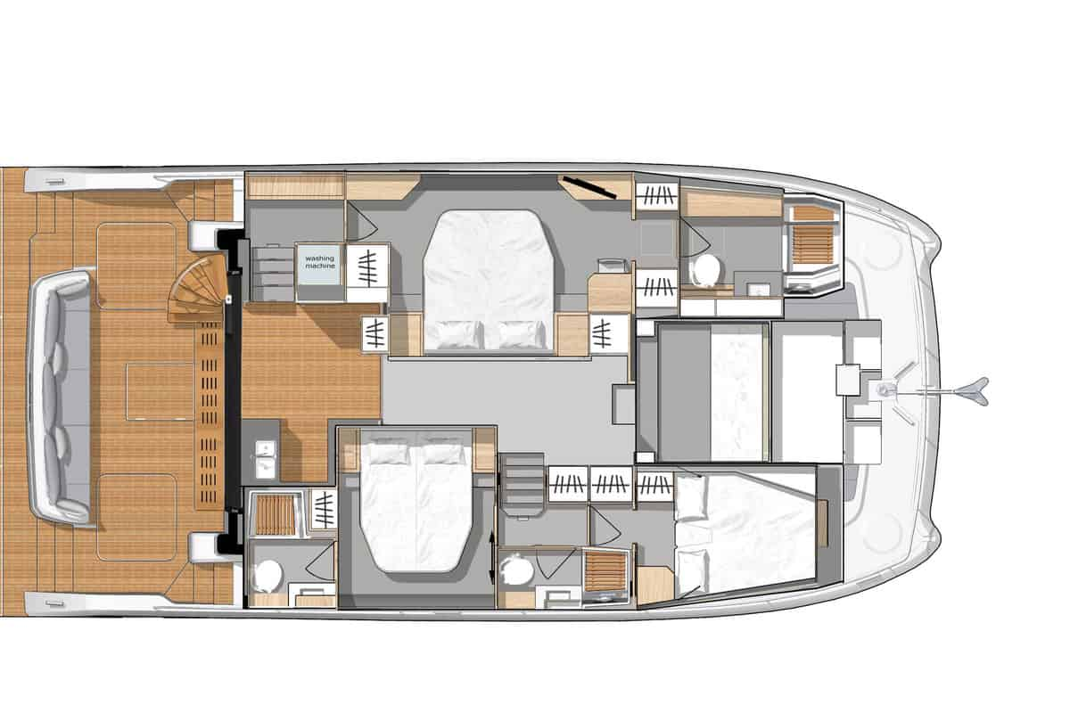 Fountaine Pajot MY 44 Hauptdeck