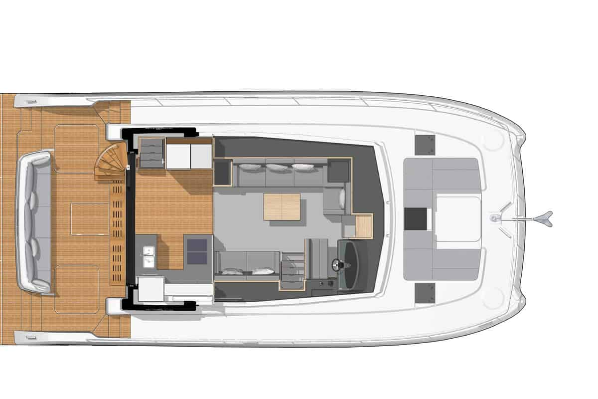 Fountaine Pajot MY 44 Oberdeck
