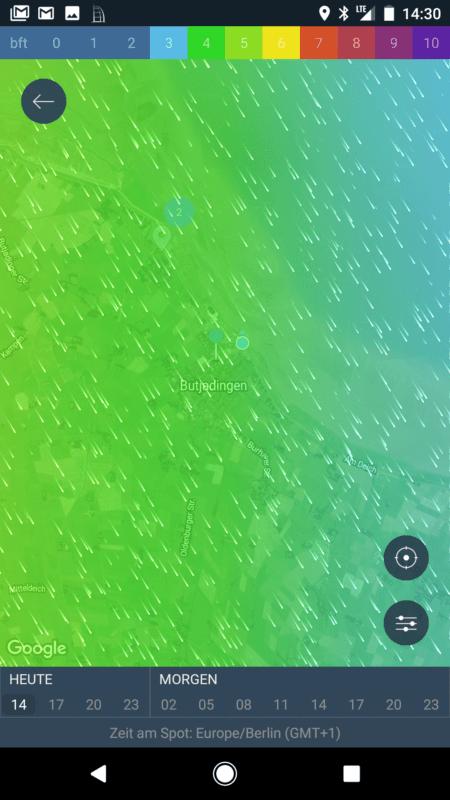 Screenshot Windy App