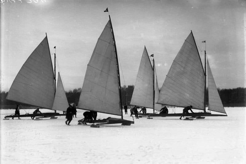 Eissegeln auf dem Müggelsee 1929 © Bundesarchiv