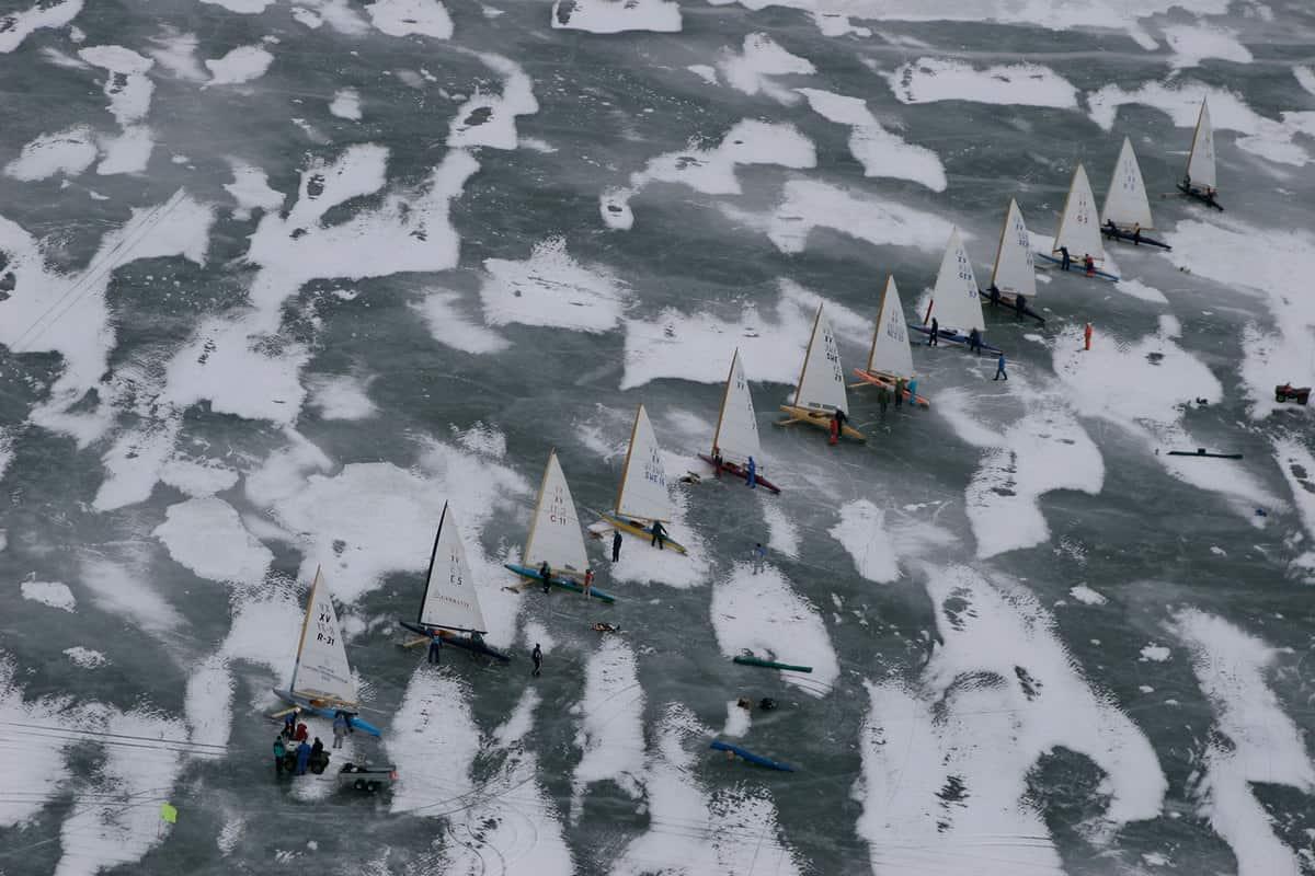 Eissegler in Fiskeboda