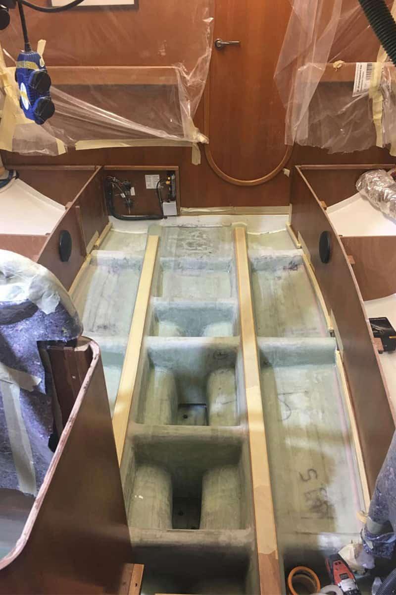 Vorbereitungen für einen neuen Kiel
