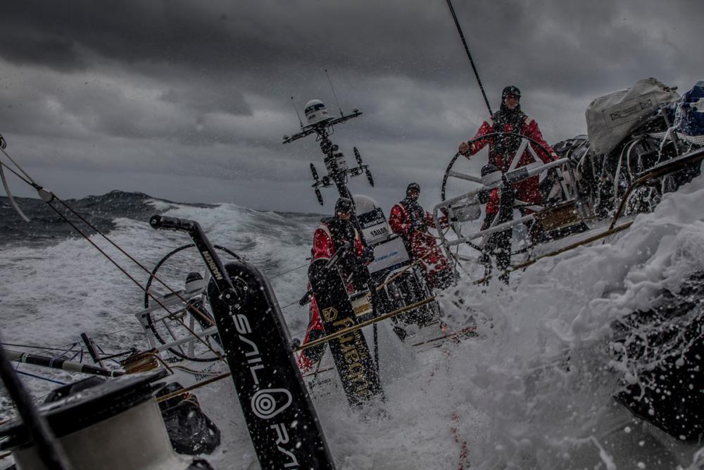 Früher Morgen im Südpolarmeer an Bord der Scallywag © Konrad Frost/Volvo Ocean Race