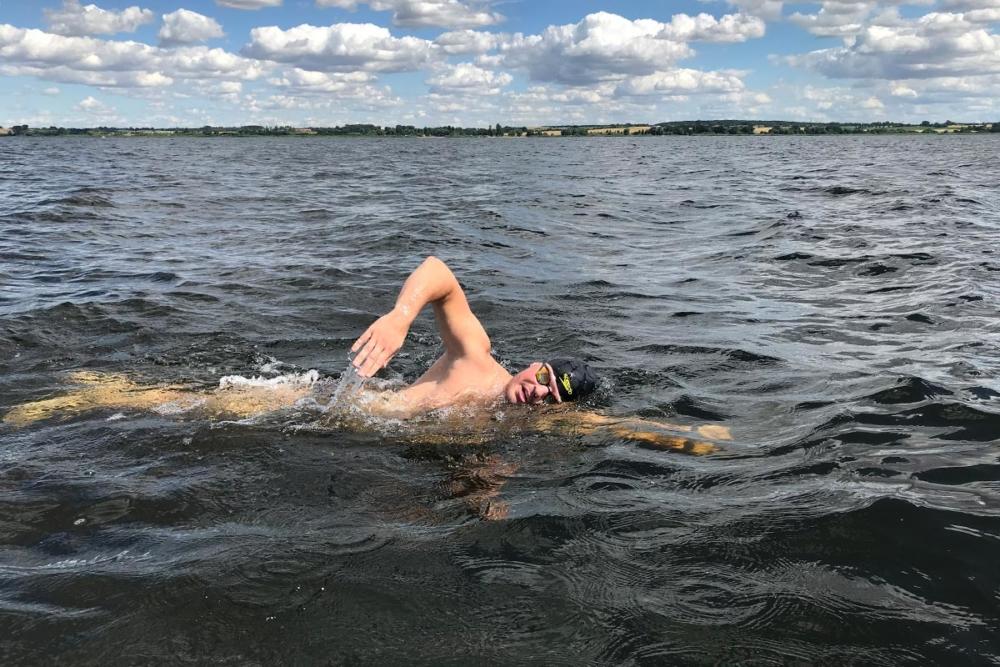 Langstreckenschwimmer Joseph Heß