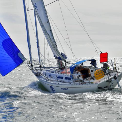 2018 Golden Globe Race -Jean-Luc Van Den Heede sail training on his Rustler 36 MATMUT © Christophe Favreau/PPL/GGR