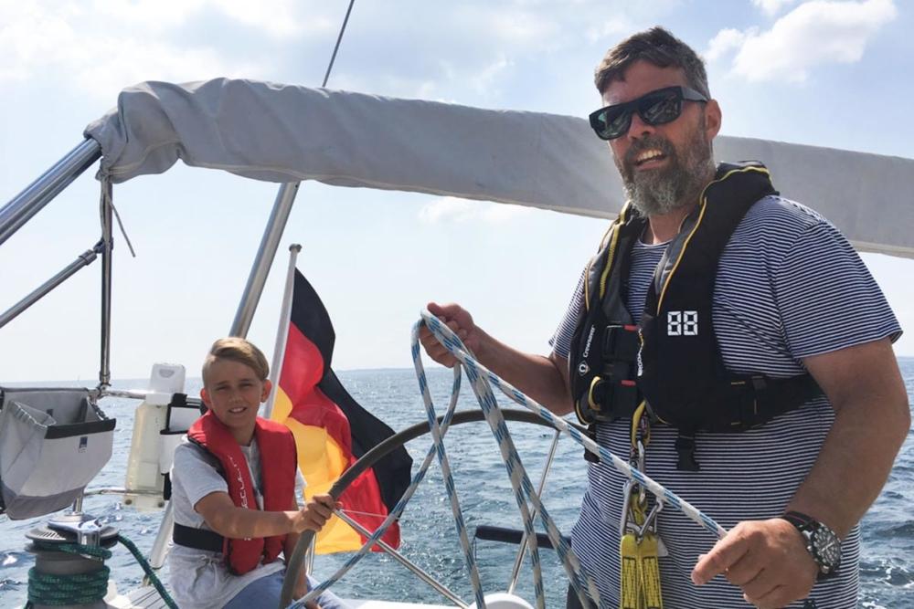 Der Kapitän und sein Steuermann © Familie Gerlach