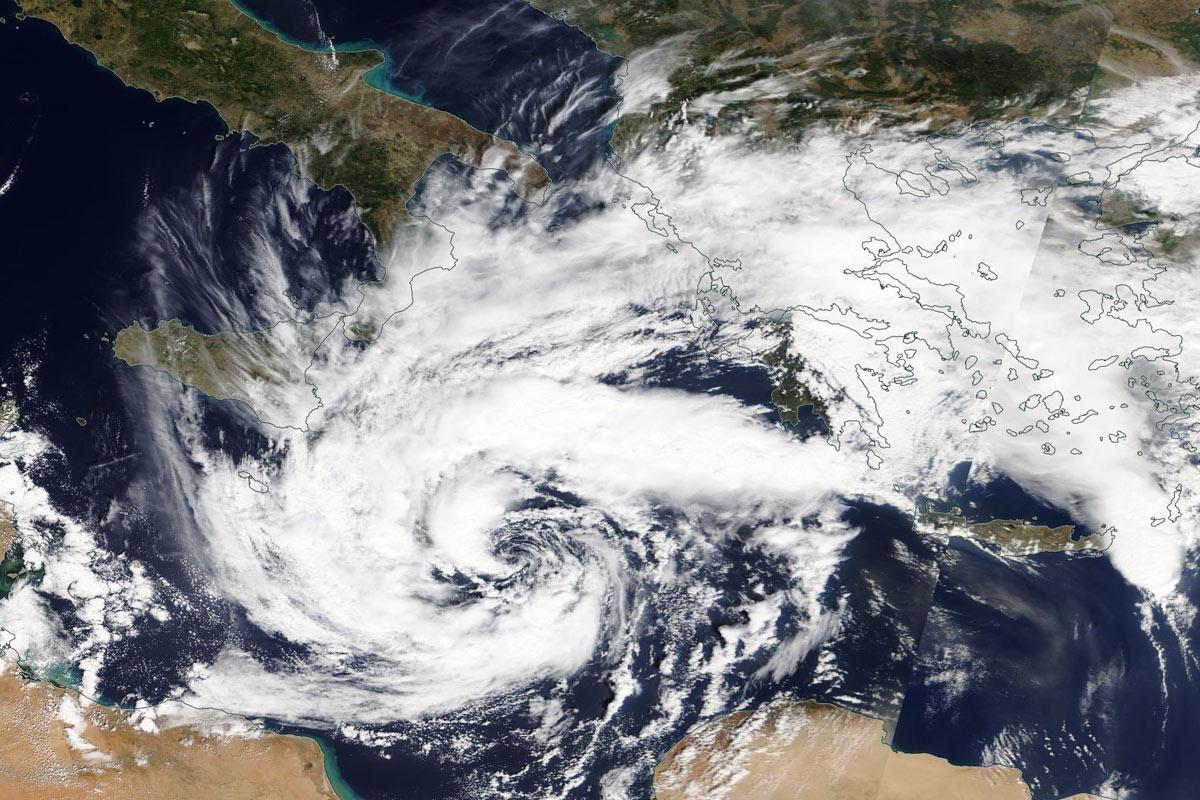 Herbststürme Mittelmeer