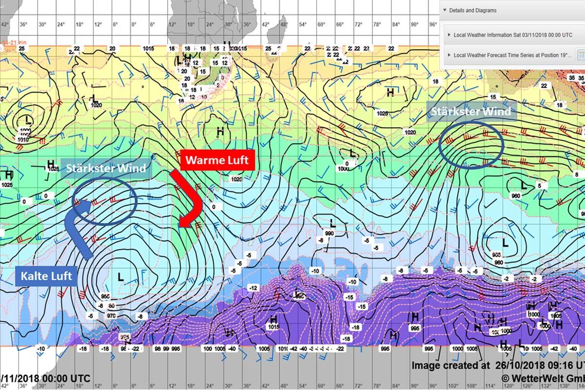 Wetter im Southern Ocean bei Wetterwelt