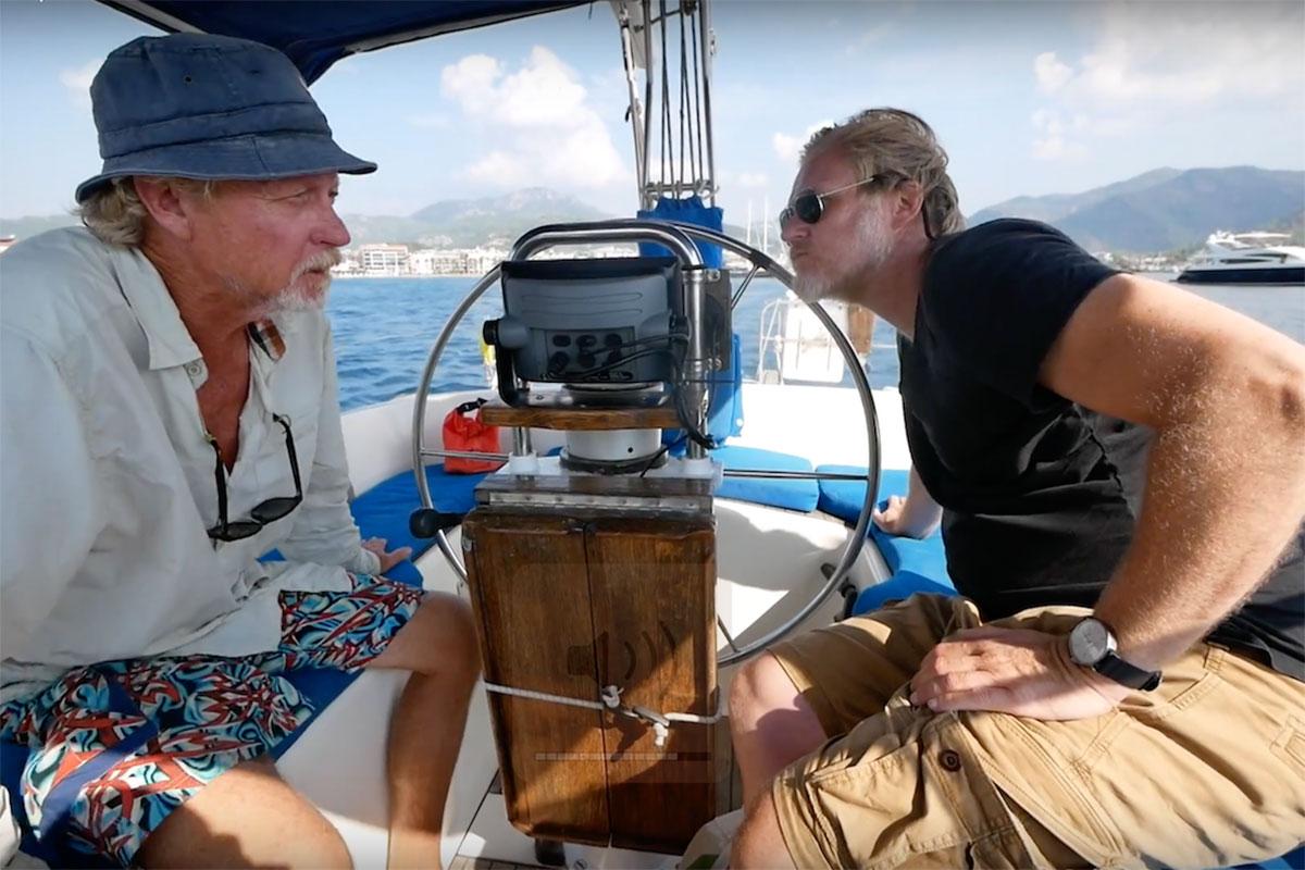 Segelaussteiger Jens Brambusch im Segelrevier Türkei