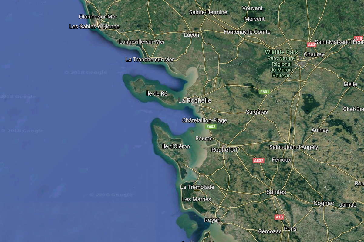 Region Rochefort Landkarte google Maps