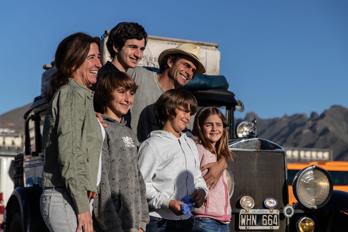 Familie Zapp auf dem Frachtsegler Avontuur