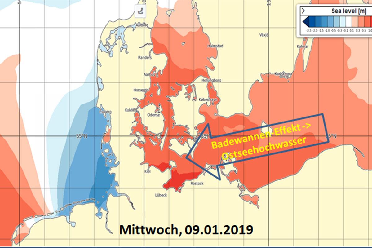 Sturm an Nord- und Ostsee