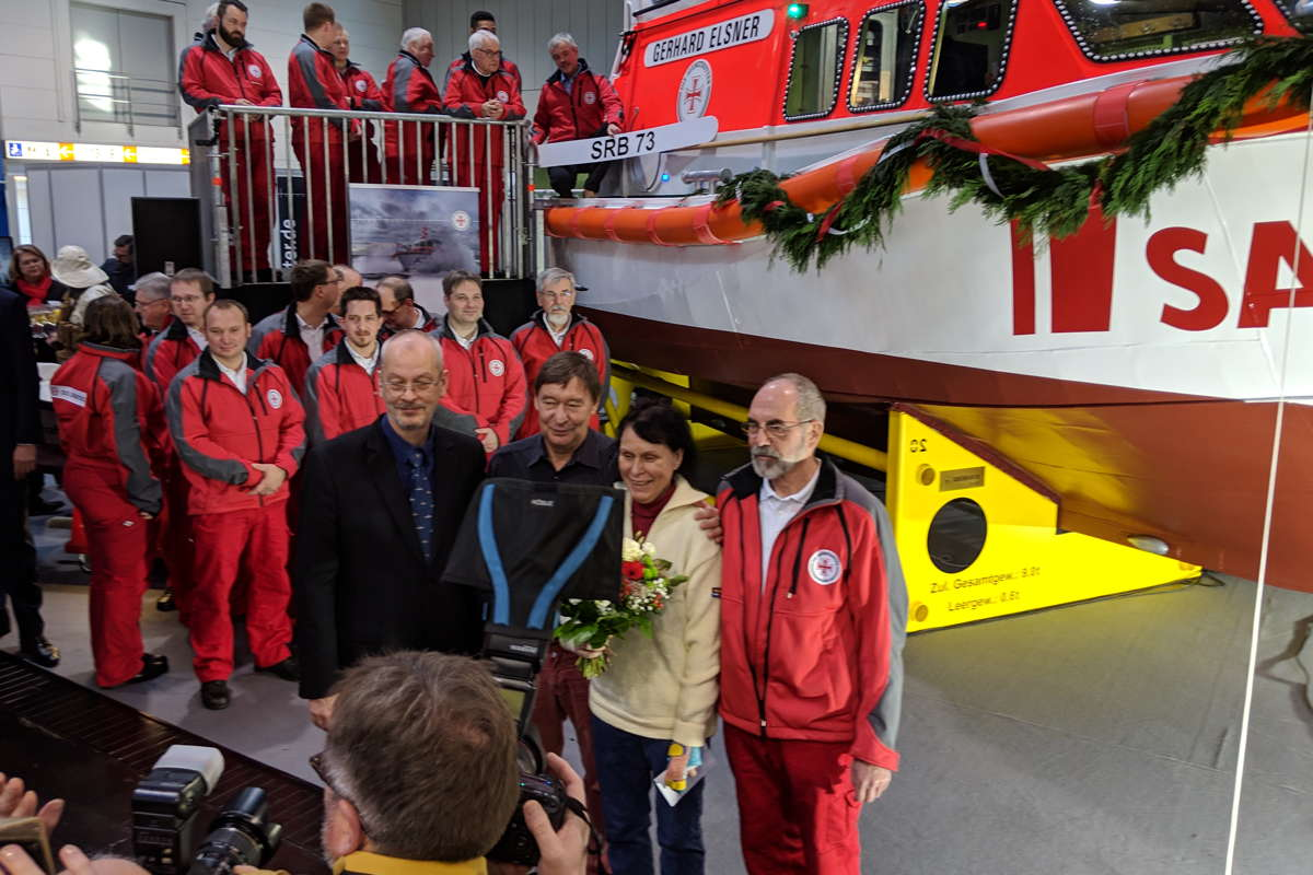 Taufe Seenotrettungsboot Gerhard Elsner