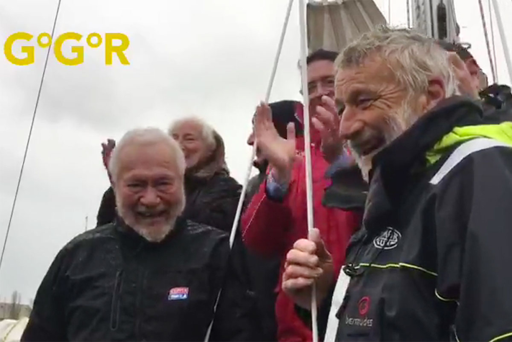 Sir Robin Knox-Johnston und Jean-Luc Van den Heede (re.) © GGR