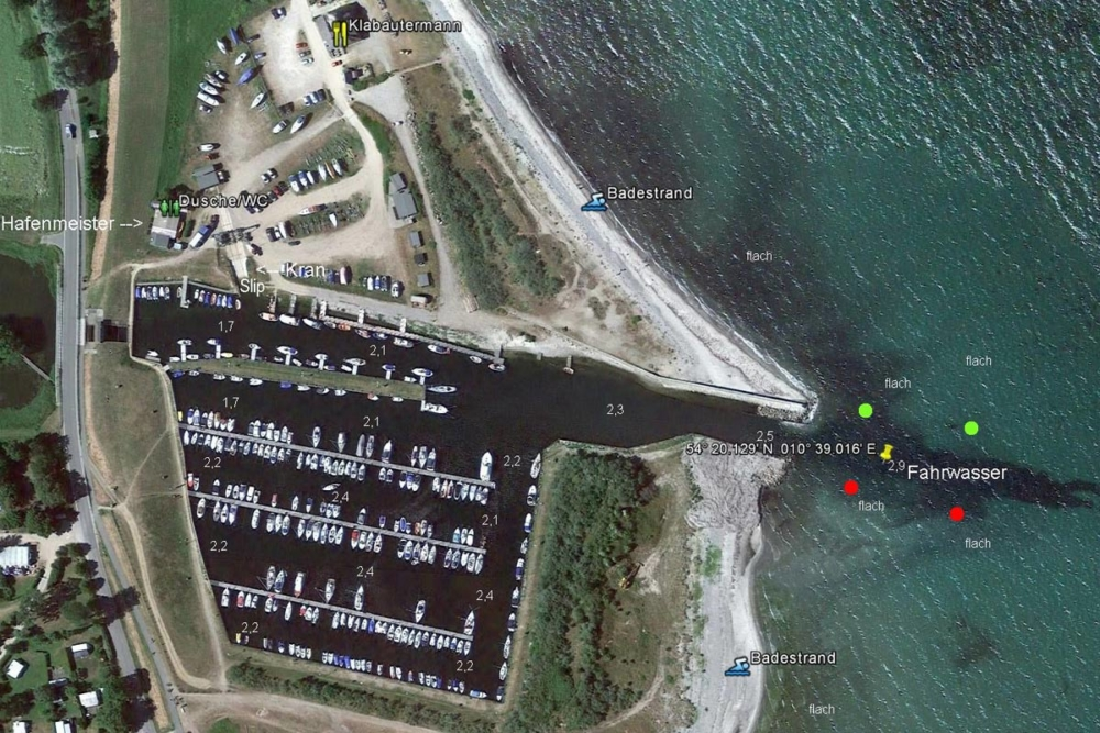 Yachthafen Lippe © nasasat / Google Earth