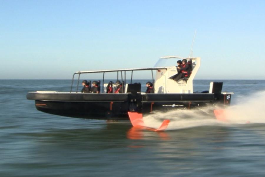 Das neue Foiling-Motorboot von Beneteau © Beneteau