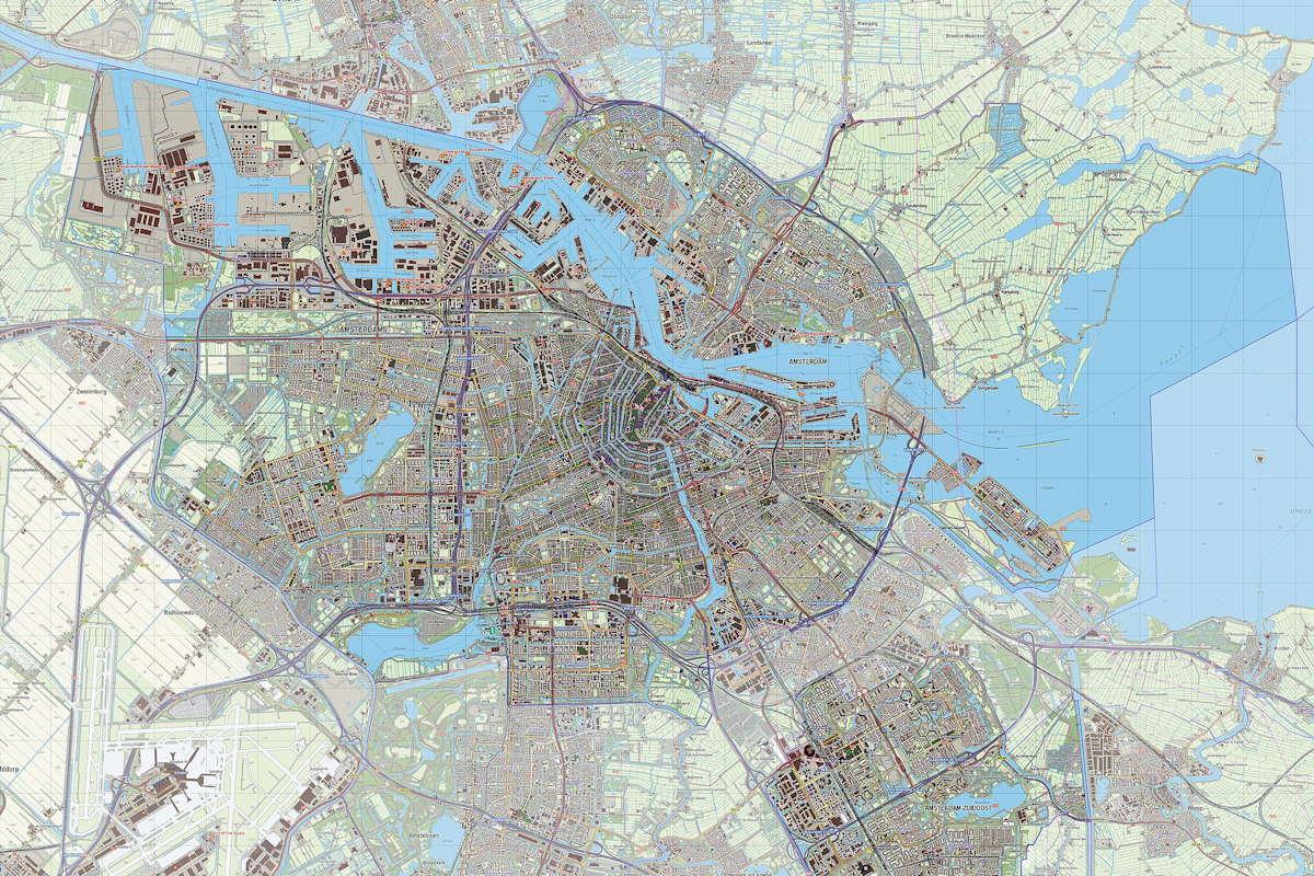 Das Stadtzentrum von Amsterdam