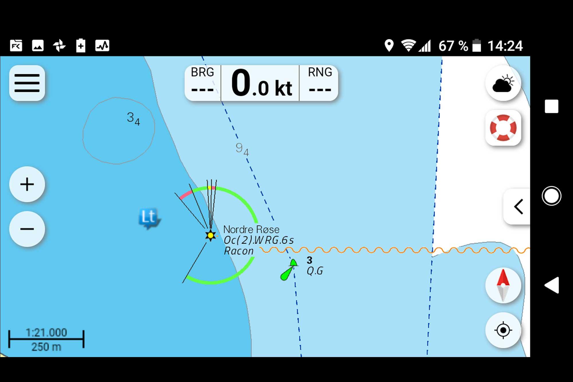 NV Charts App Hohe Detailtiefe in Vektorkarten