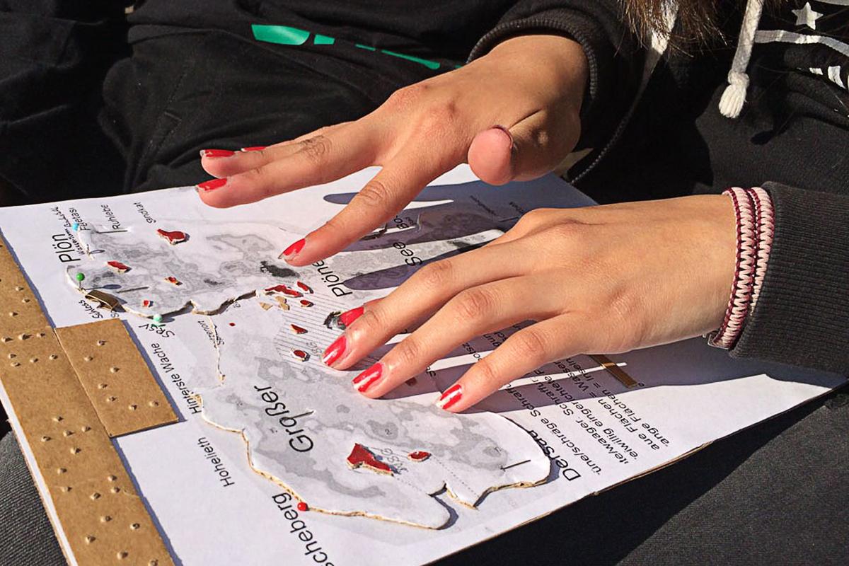 Seekarte erfühlen: So begreifen Blinde einen Kurs © SRSV
