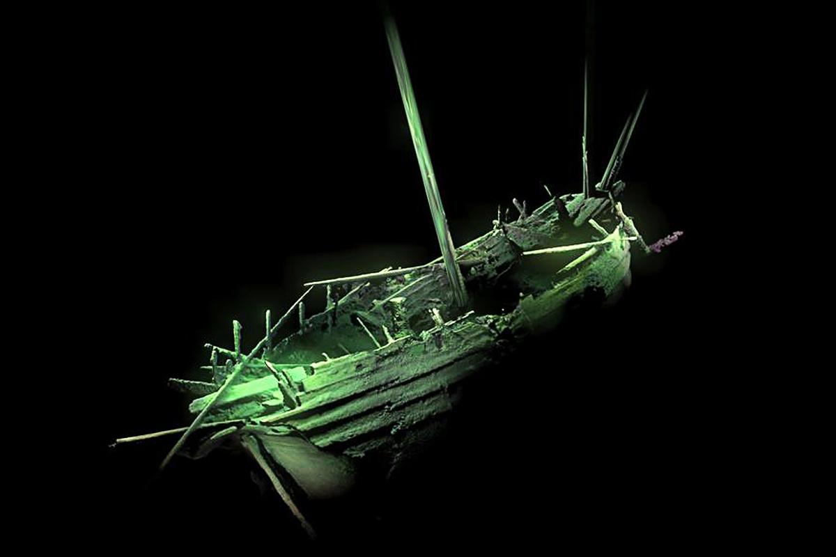 Das Heck des unbekannten Schiffswracks. Deep Sea Productions / MMT