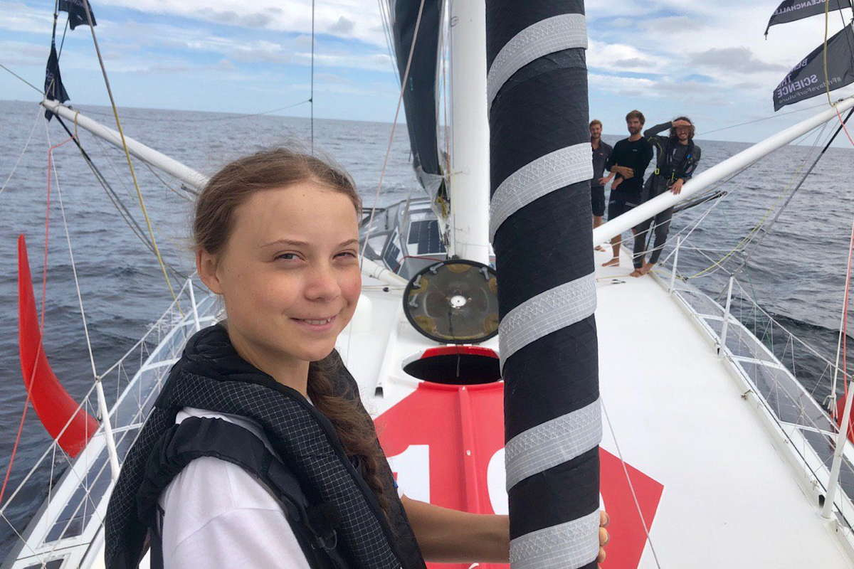 Greta Thunberg Boris Herrmann Malizia New York