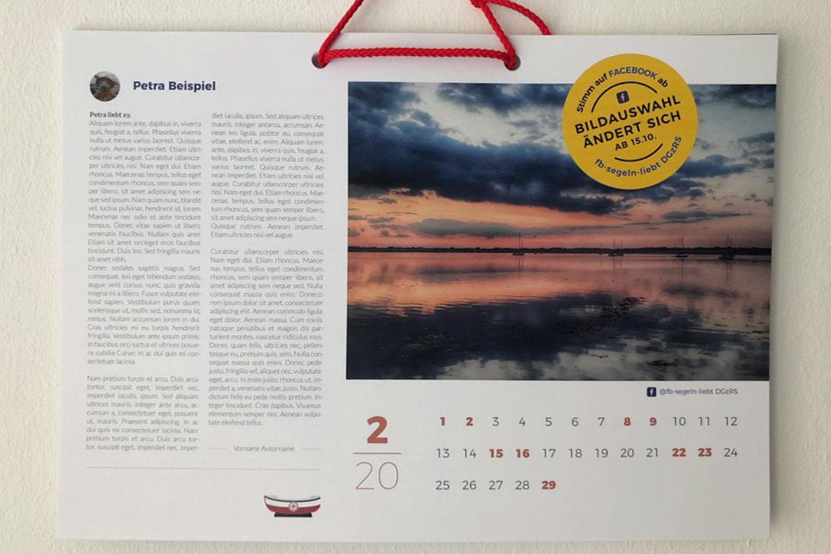 Kalender zu Gunsten der DGzRS