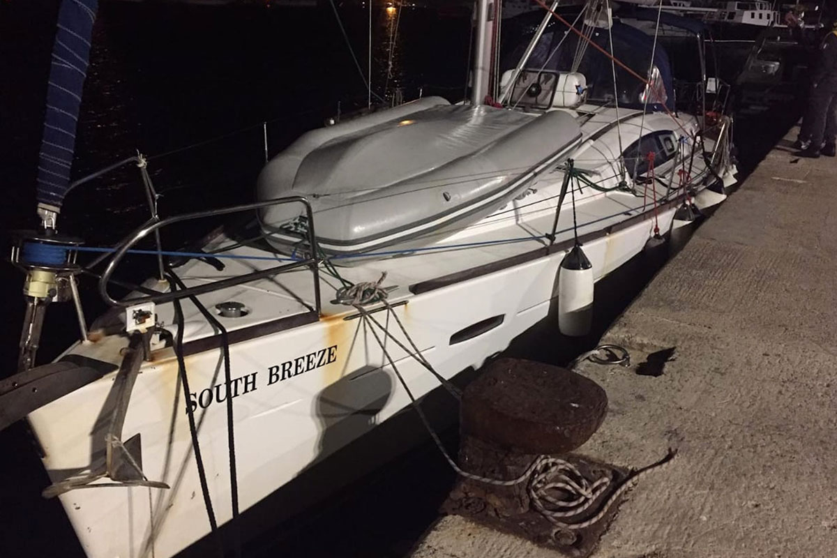 Gestohlene Charteryacht