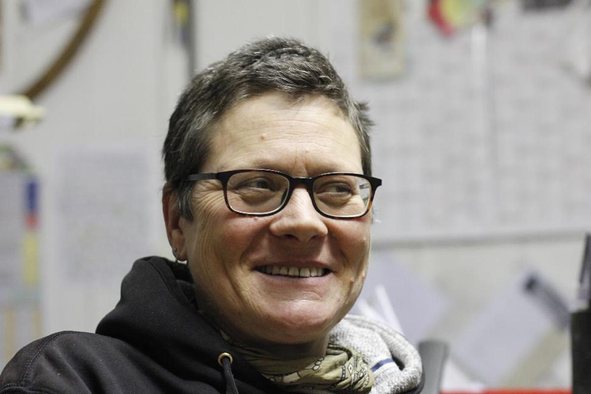 Bootsbauerin Kirsten Dubs aus Freest