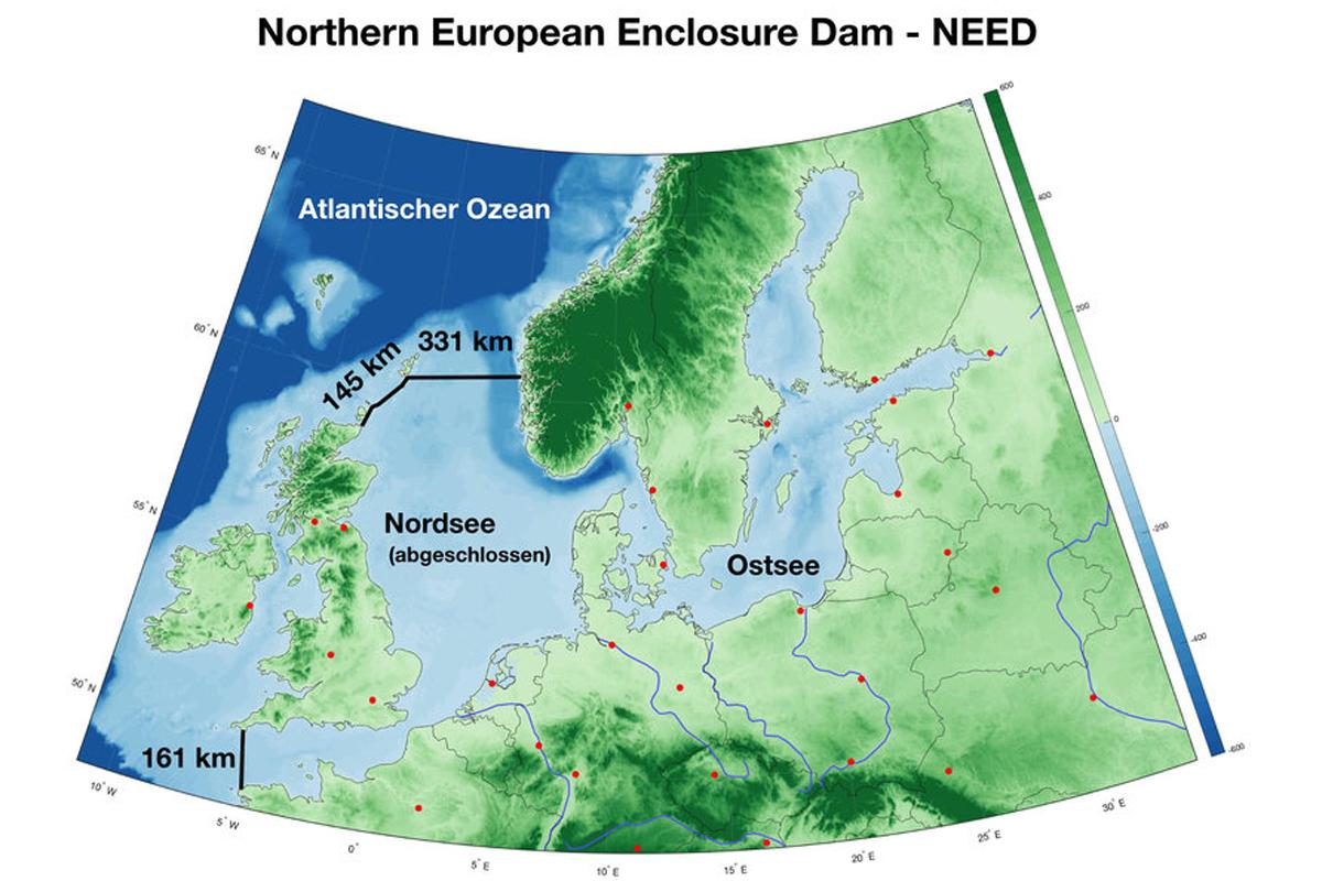 Studie: Damm-Projekt soll die Nordsee abriegeln und vor Meeresspiegel-Anstieg schützen © Geomar
