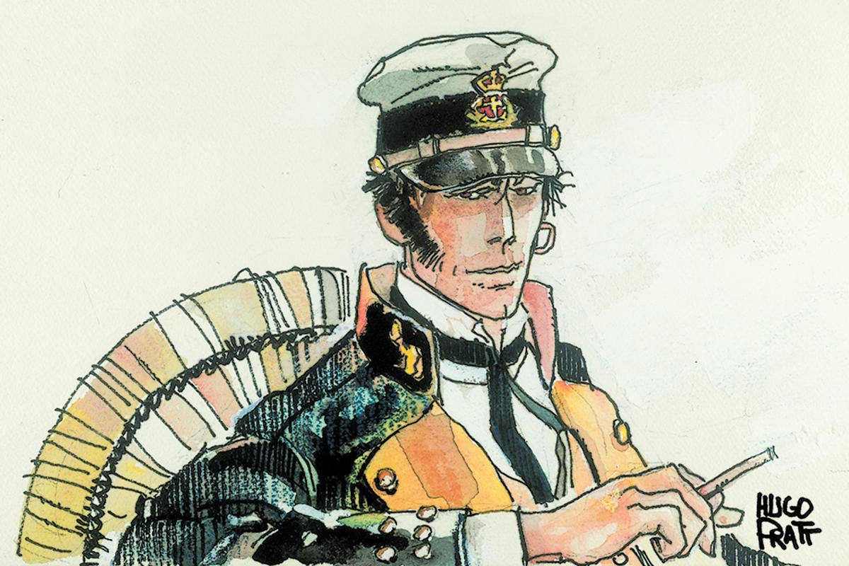 Der Kontrast aus Marineuniform und goldenem Ohrring ist ein Kernelement der Figur Corto Maltese