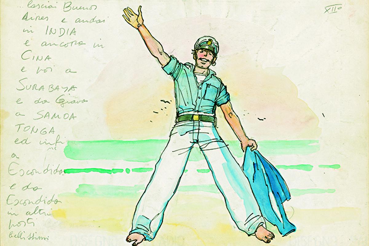 Ungewöhnlich relaxed: 1976 zeichnete Pratt seinen Helden barfuß am Strand