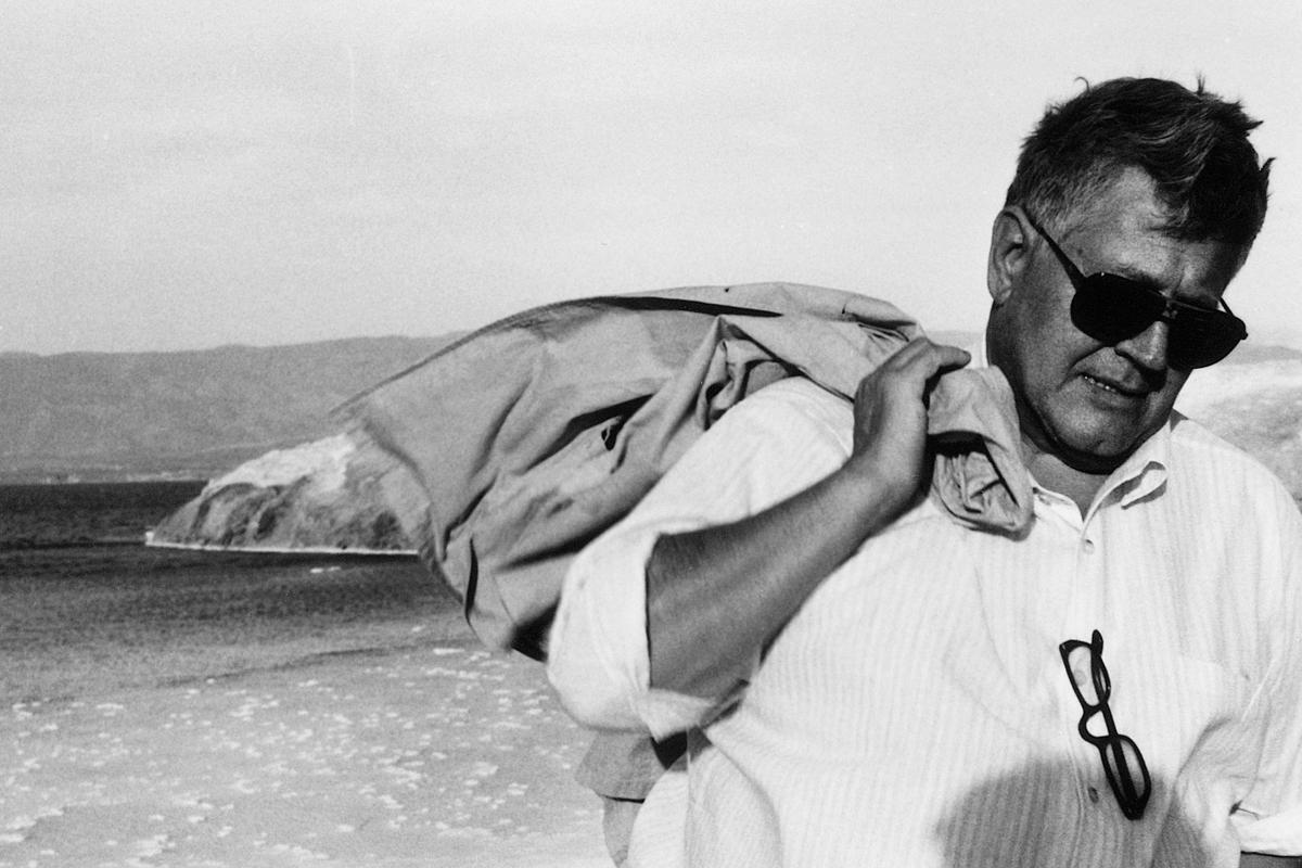 Hugo Pratt 1982 auf Besucht in Äthiopien – das Land, in dem er einen Teil seiner Kindheit verbracht hatte