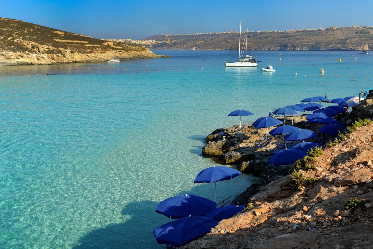 Wie Karibik, nur näher: Gozo, die kleine Nachbarinsel von Malta, ist ein Bade- und Tauch-Paradies