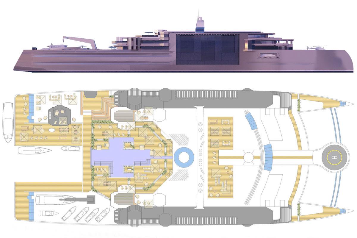 Superyacht-Katamaran Galileo 2 von Beiderbeck Designs aus Bremen