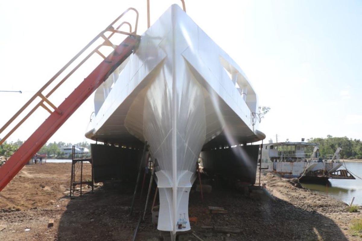Der philippinische Hybrid-Trimaran ist das erste Schiff, das mit Hilfe von Wellenenergie fährt