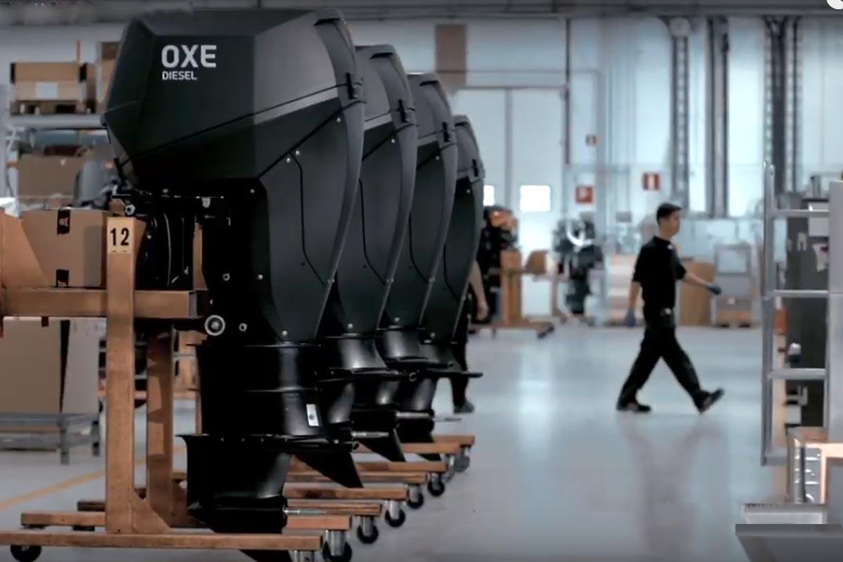 Diesel-Außenbordmotoren von Oxe und BMW © Oxe