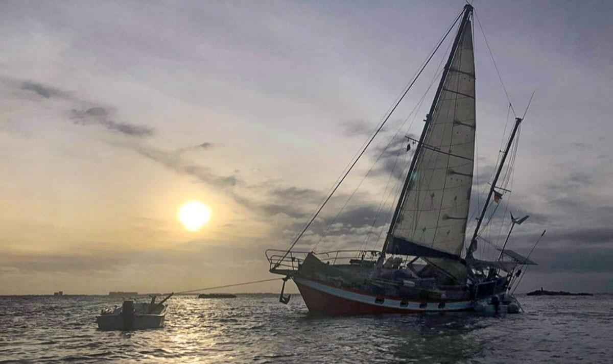 Unser Autor ist mit seiner 40-Fuß-Ketsch Seefalke (Foto) in der Karibik unterwegs