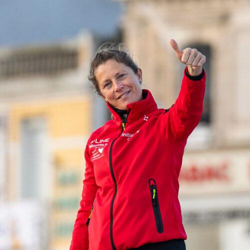 Vor dem Start: Samantha Davies verabschiedet sich von ihren Fans