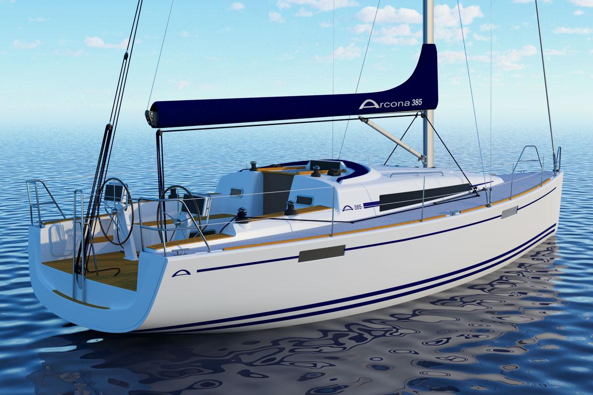 Arcona-Yachten mit offenem Heck