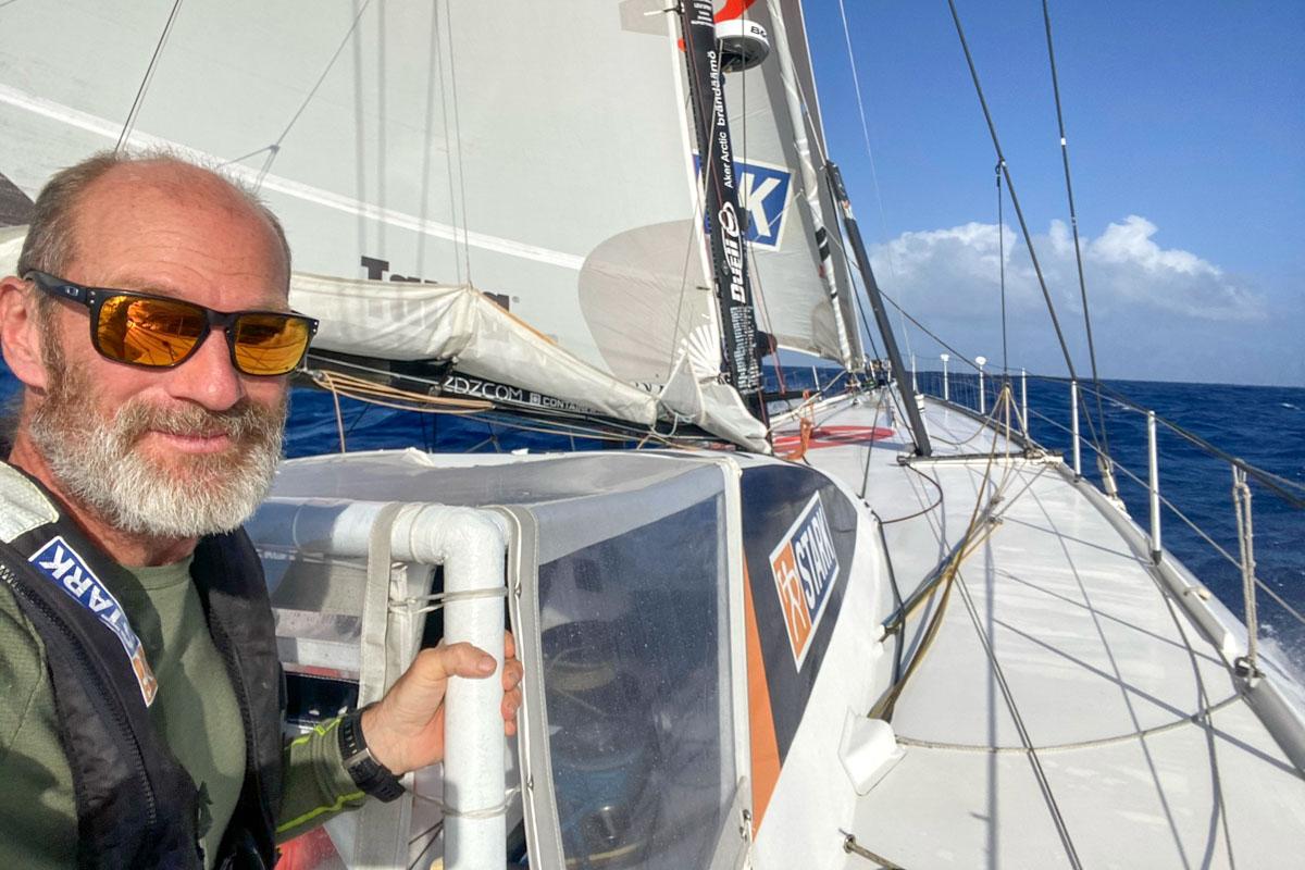 Ari Huusela an Bord