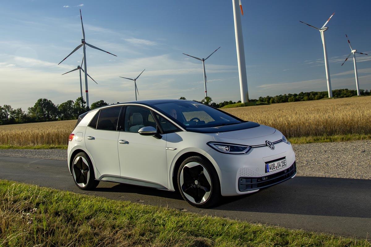 Der VW ID.3 ist das erste Auto, in dem der MEB genutzt wird; 2020 war seine Premiere