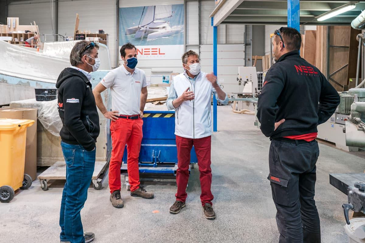 Yannick Bestaven in der französischen Werft