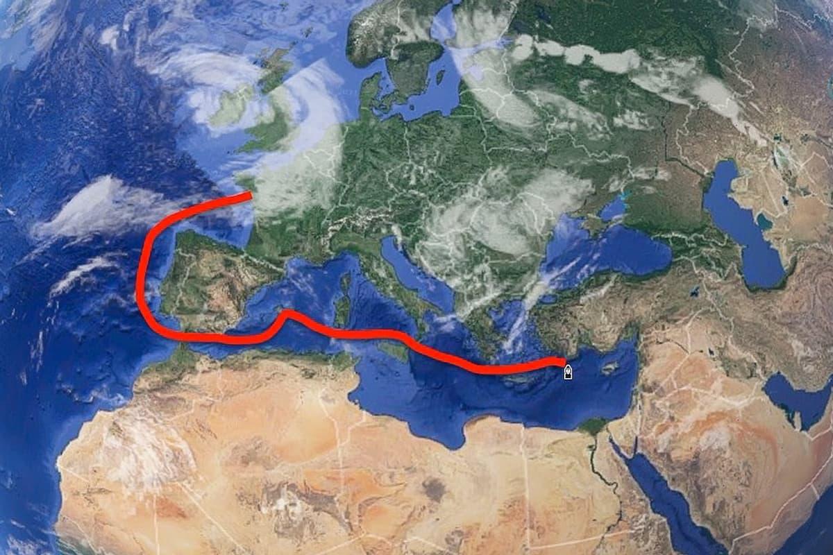 Die Route von Sebastian Kummer