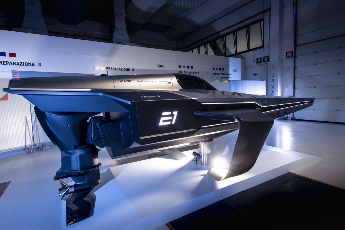 Rennboot Seabird E1